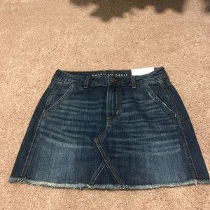 Hi-Rise Festival Mini Denim Skirt
